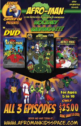 Afro-Man & The Protectors of The Book Of Knowledge - Bundle Pack - All 3 Episodes - (DVD) Cartoon