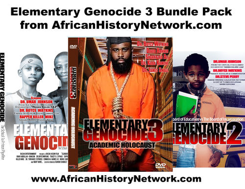 Elementary Genocide 3 Bundle Pack - 3 Documentaries & 3 Lectures from Michael Imhotep